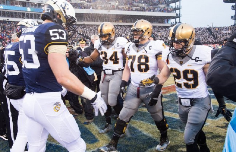 army navy game betting line