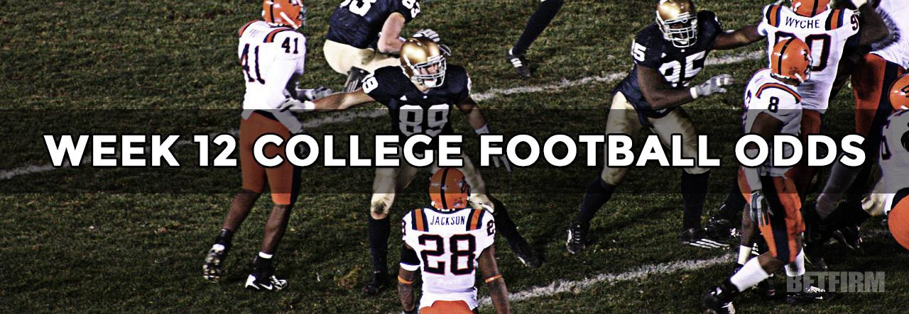 college football betting lines week 12