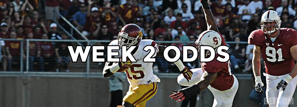 Week 2 College Football Odds